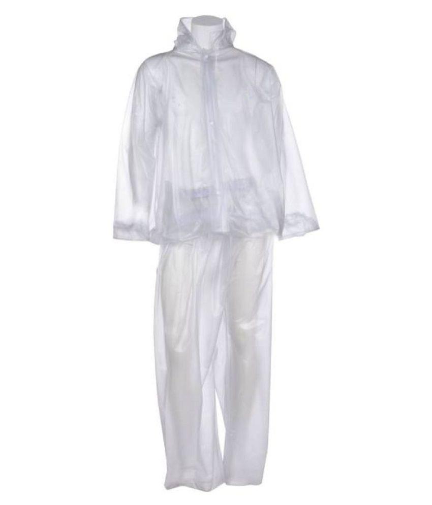 Hani Fashion PVC Raincoat Set - White