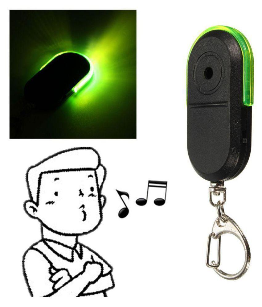 1 Pc Green Anti-Lost Alarm Key Finder Locator Keychain Whistle Sound LED Light