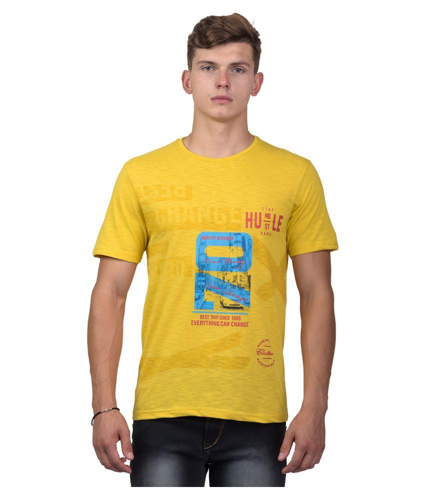 United Core Yellow Round T-Shirt