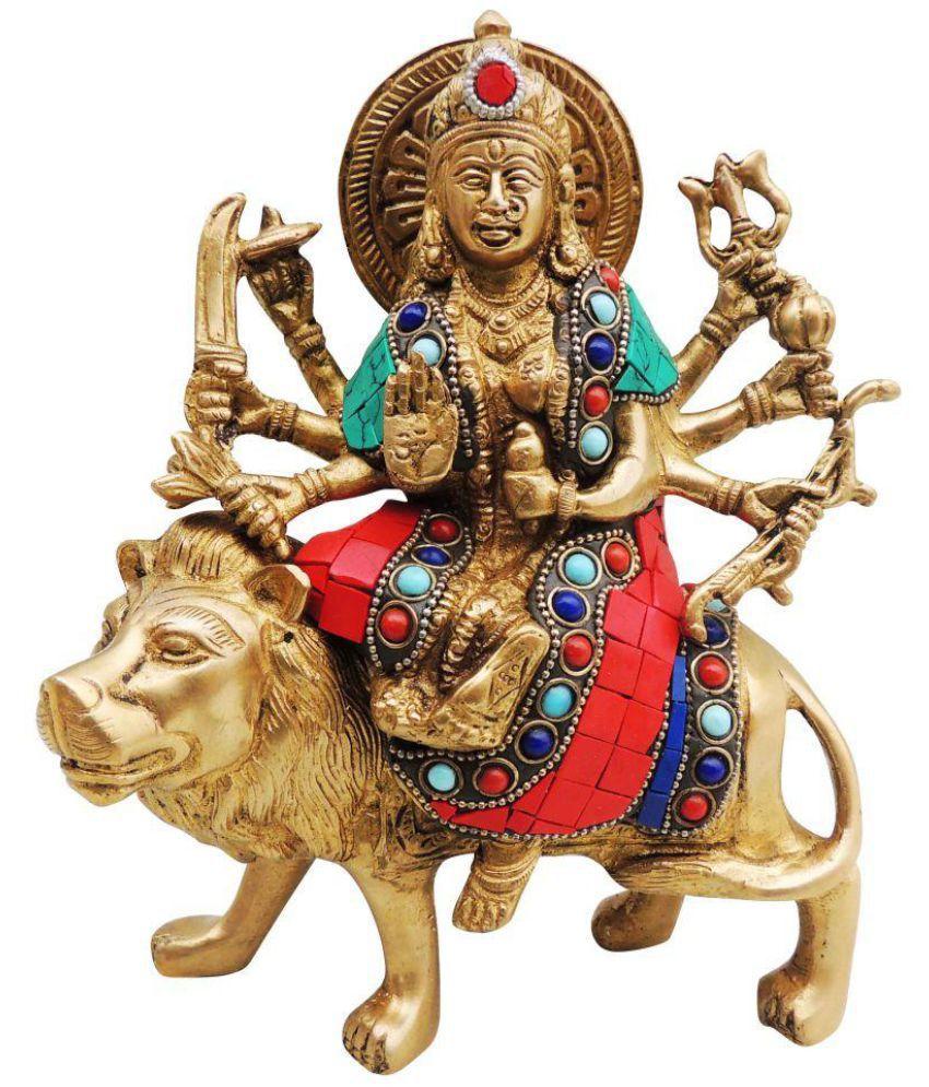 Brass Gift Center Durga Brass Idol