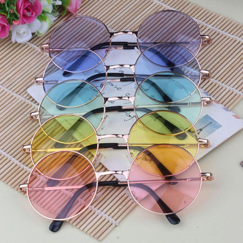 ZXG Multicolor Aviator Sunglasses ( 1Pcs Fashion Circle The Sun Glasses Sunglasses )