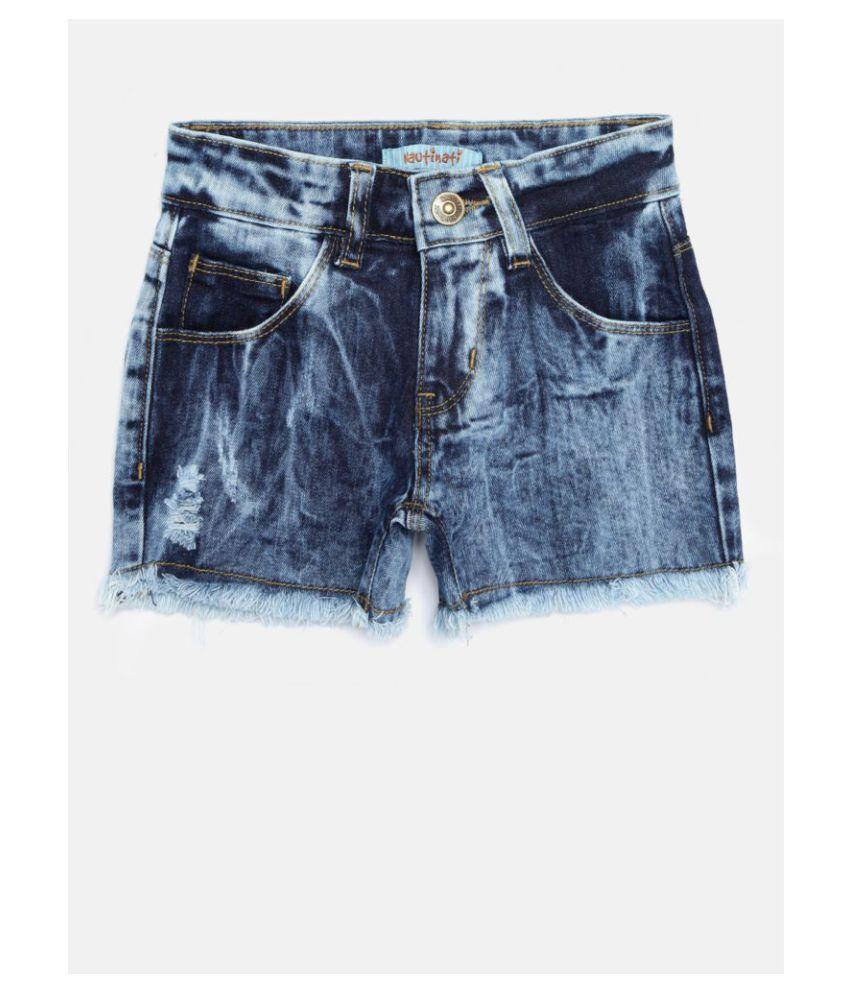 Nautinati Blue Girls Shorts