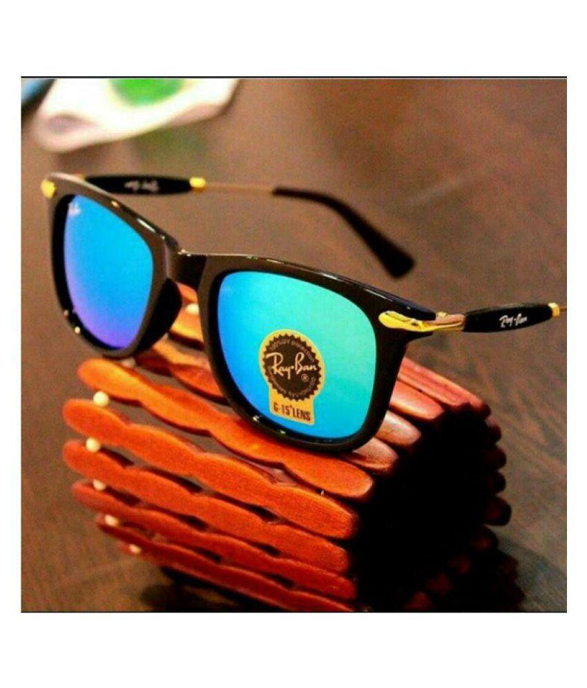 Rayban Style Sunglasses Blue Aviator Sunglasses ( aqua 2148 )