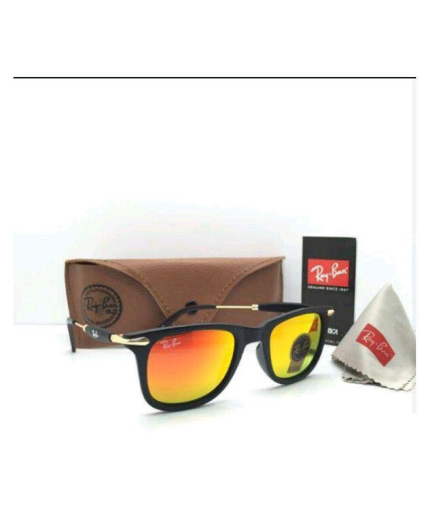 Rayban Style Sunglasses Orange Aviator Sunglasses ( 2148 )