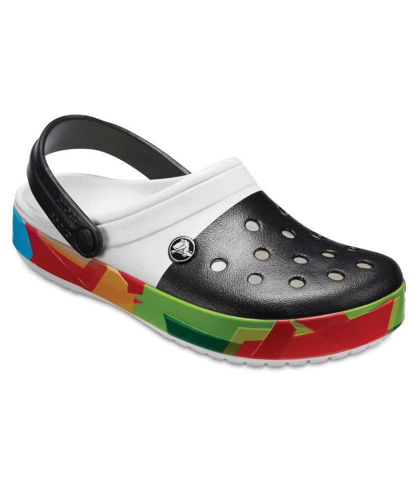 8489123c5 Crocs Men Crocband Prismatic Clogs White Sandals Price in India- Buy Crocs  Men Crocband Prismatic Clogs White Sandals Online at Snapdeal