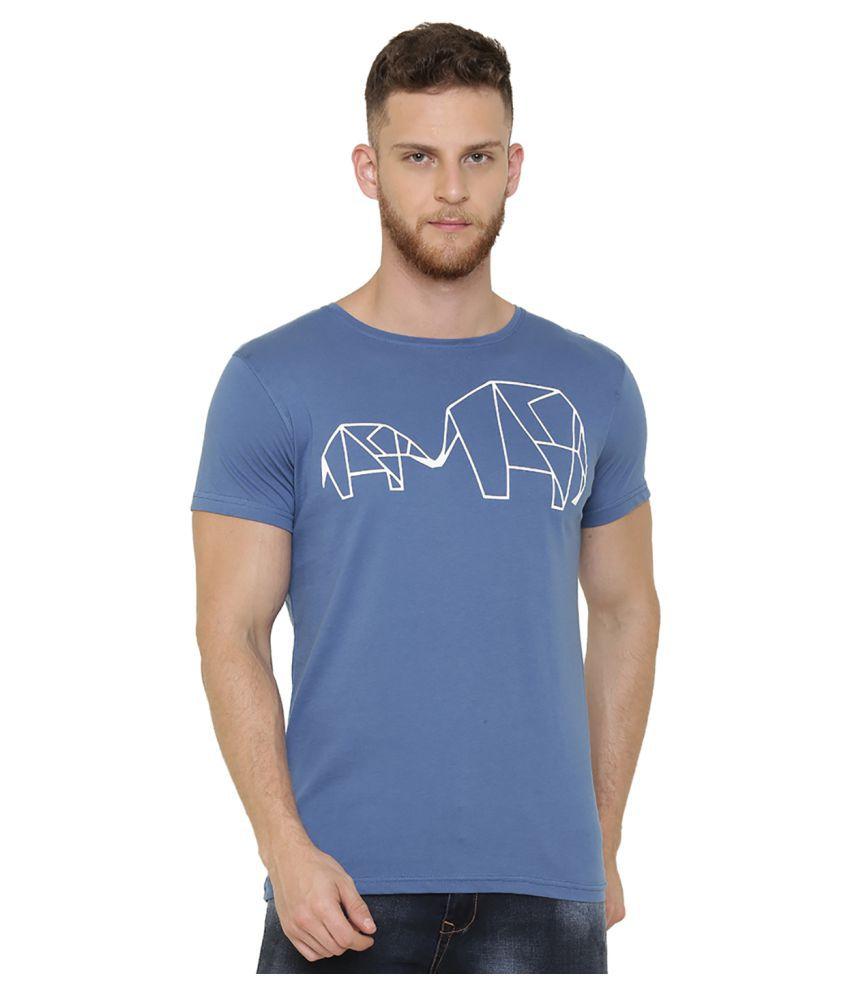 DEFENDER Blue Round T-Shirt