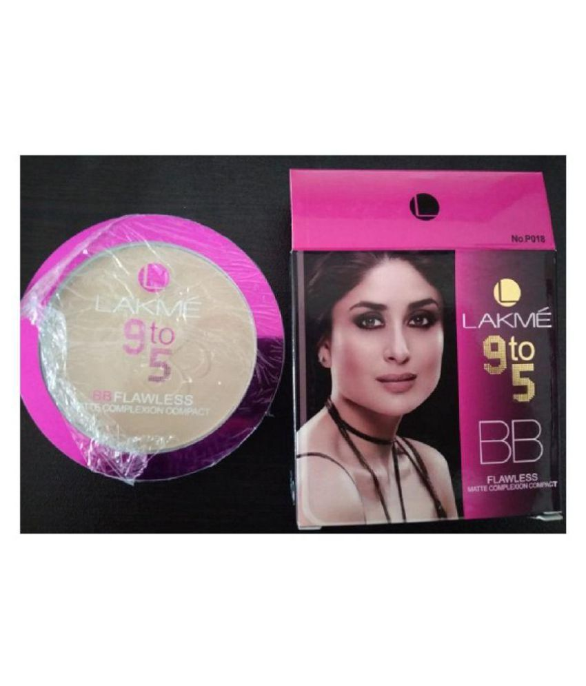 Lakme 9 To 5 BB FLAWLESS MATTE COMPLEXION One Side Round Compact Mirror