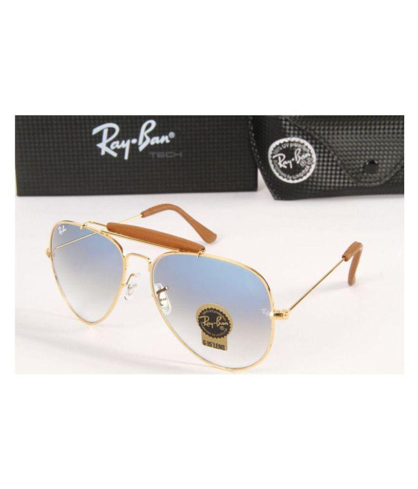 Rayban Stylish Sunglasses Blue Aviator Sunglasses ( BLU.SHADE.BRIDGE.AVi )