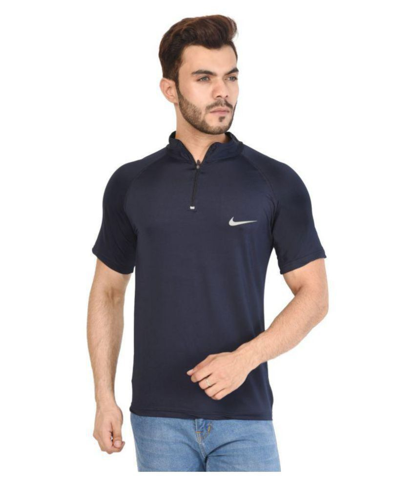 74b604a70ec9 Nike Blue Henley T-Shirt - Buy Nike Blue Henley T-Shirt Online at Low Price  - Snapdeal.com