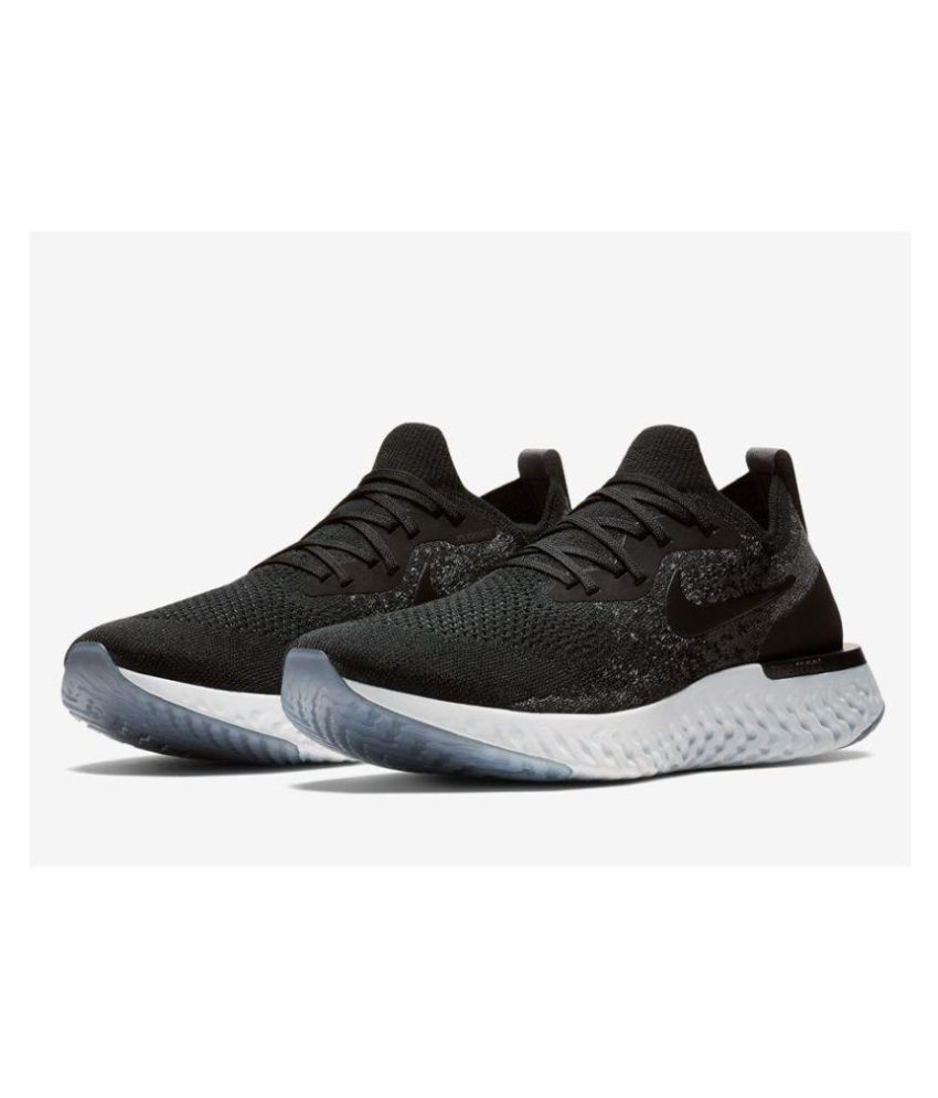 f3a2ad1d37393 Nike EPIC REACT FLYKNIT Black Running Shoes - Buy Nike EPIC REACT FLYKNIT  Black Running Shoes Online at Best Prices in India on Snapdeal