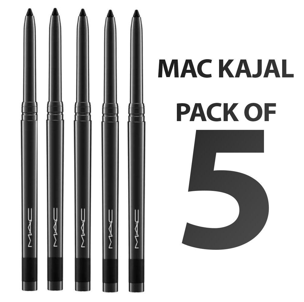 the first Short life Occur  Mac Kajal Pencil BLACK 100 GM gm Pack of 5: Buy Mac Kajal Pencil ...