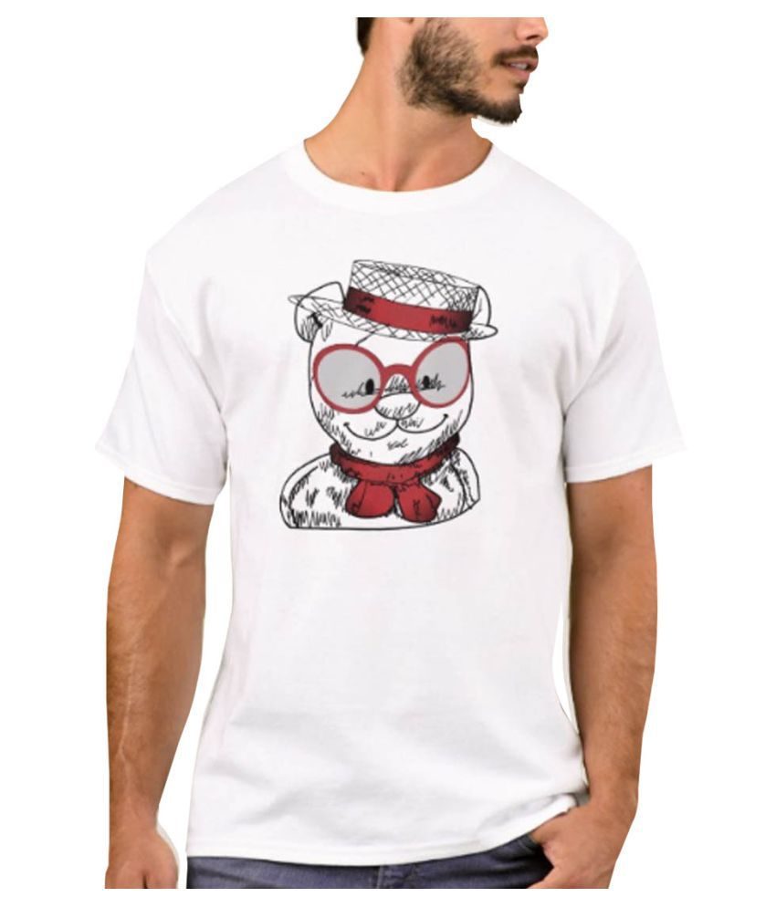 Nutcase White Round T-Shirt Pack of 1