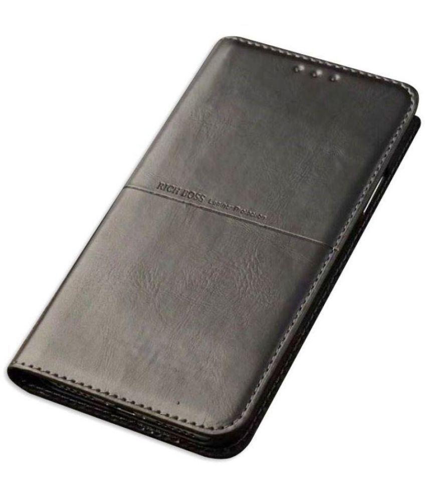 brand new 156e8 ef02b OnePlus 6 Flip Cover by Dirar - Black