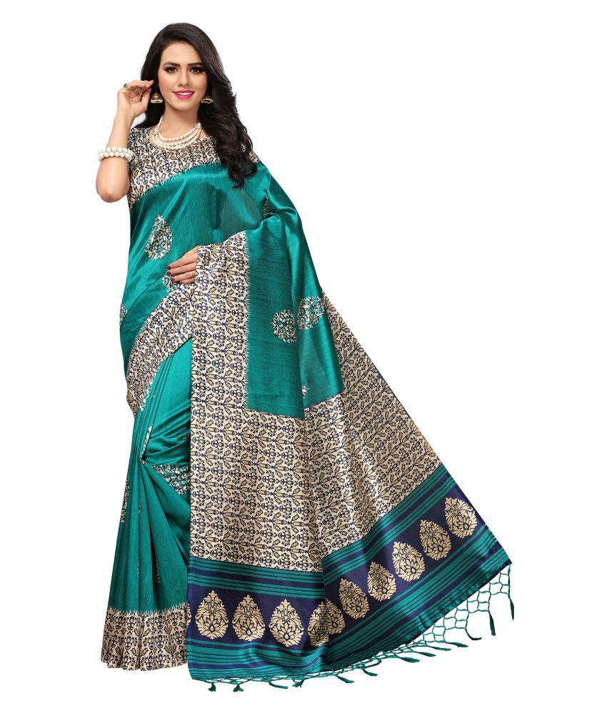 Pisara Green Art Silk Saree