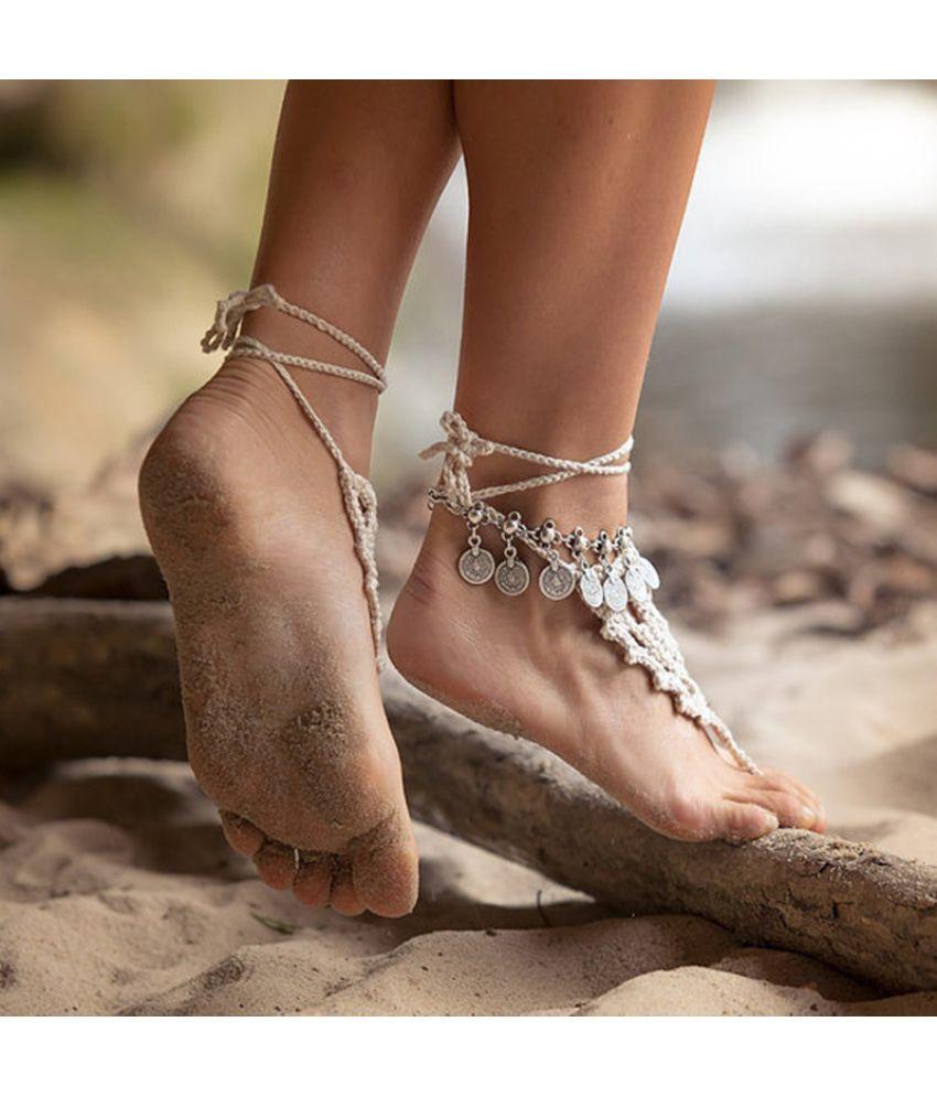 2018 Ankle Bracelet Bohemia Silver Vintage Foot Chain Women Fashion