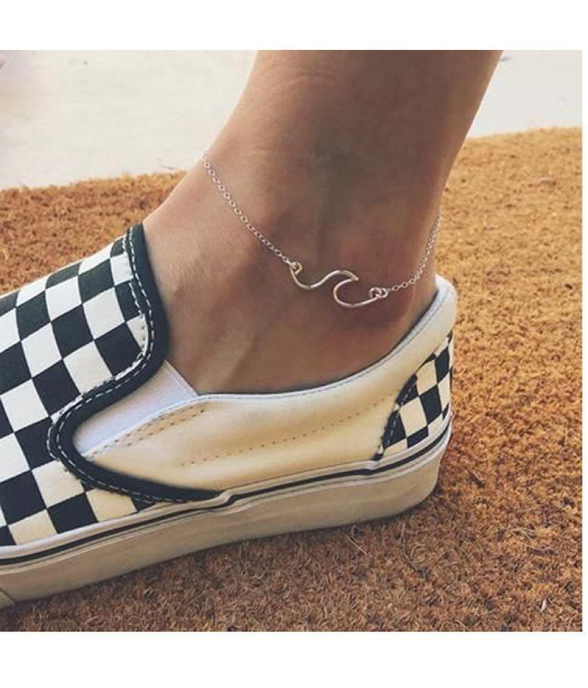 Ladies Wave Anklet Ocean Simple Chain Anklet Jewelry