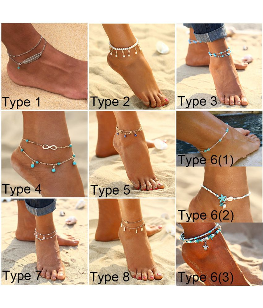 Summer Women Leaf Alloy Anklets Leg Bracelet Ankle Chain Casual Jewelry Accessories