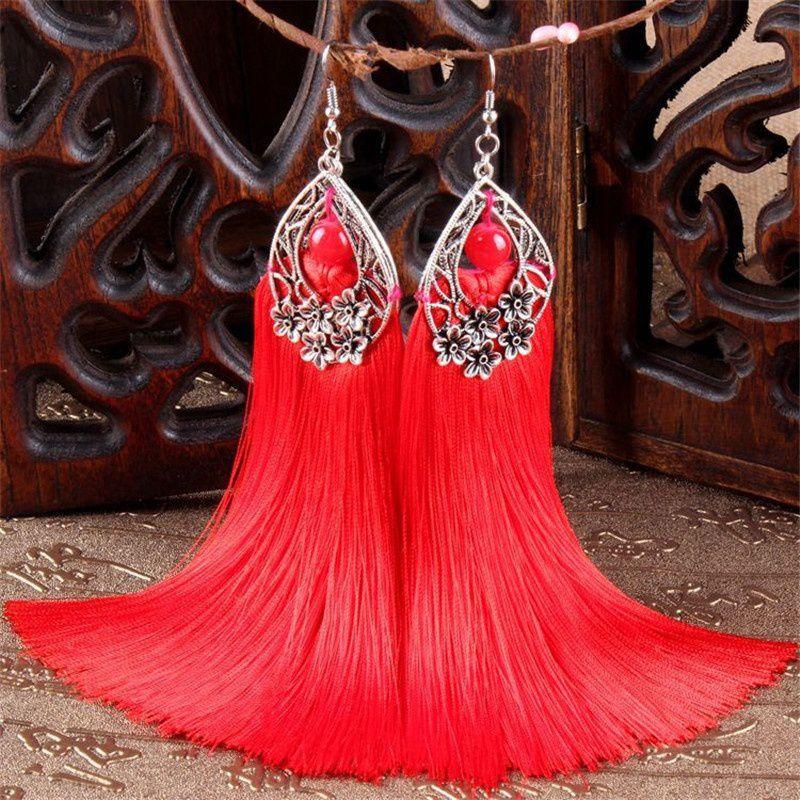 Boho Jewelry Bohemian Tassel Beaded Earrings Masquerade Party Accessories