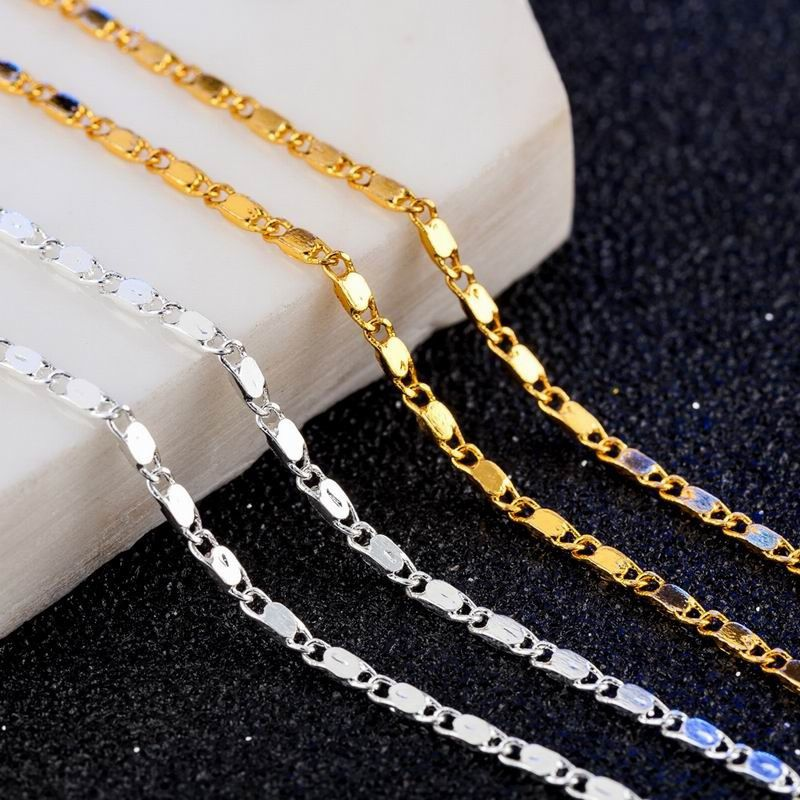 16-30in 2mm Party Gift Hip Hop Punk Elegant Clavicle Chain Necklace Wedding Necklace