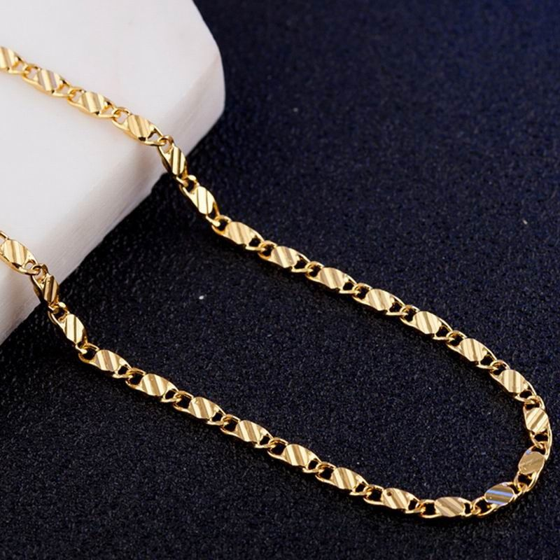 16-30in Trendy Wedding Unisex Hip Hop Elegant Figaro Curb Clavicle Chain Necklace Fashion Jewelry