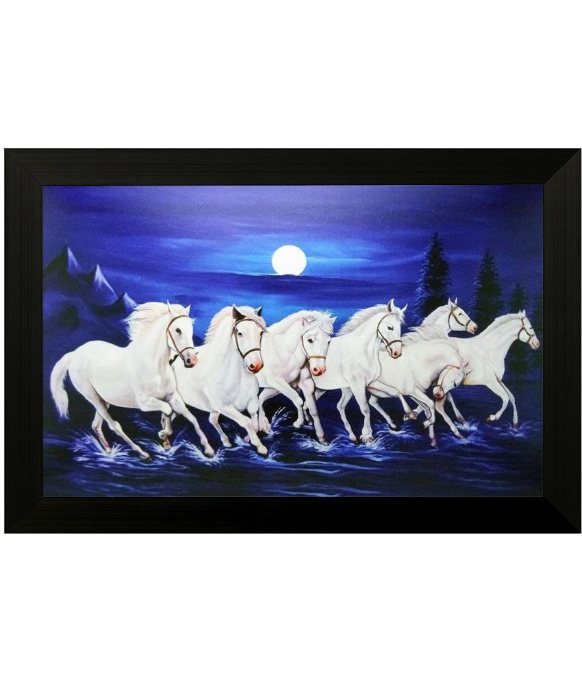 Style as Fashion Running Horse MDF Painting With Frame