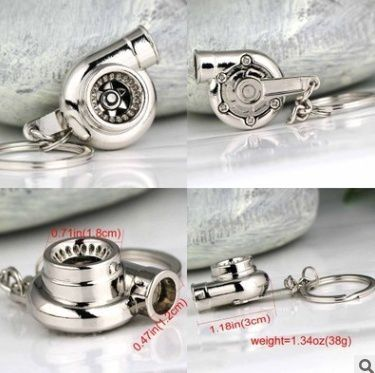 2018 new Creative Auto Parts Models Spinning Turbo Turbocharger Keychain Key Chain Ring