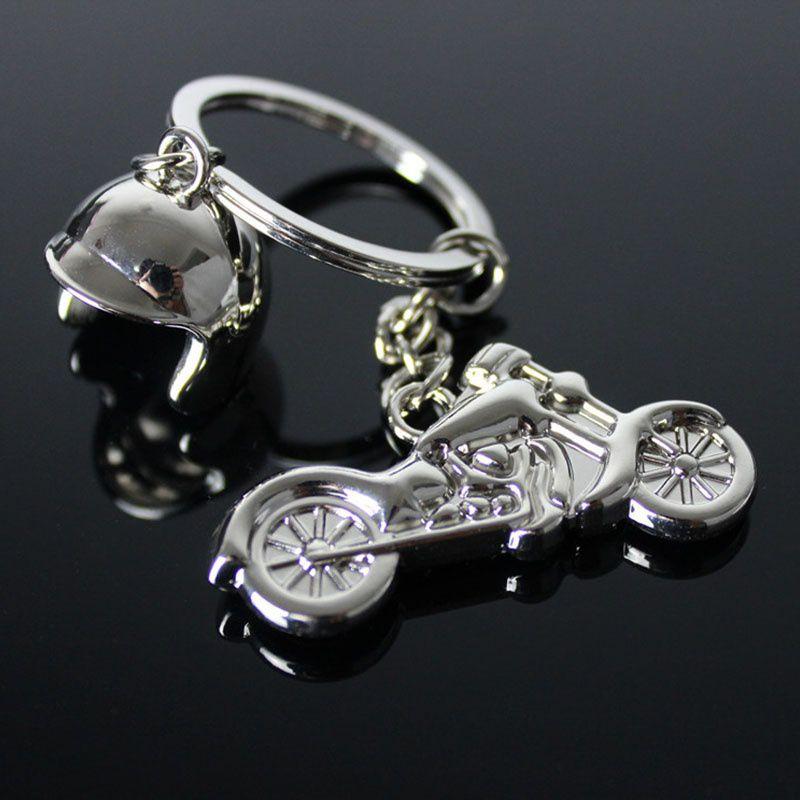 Classic 3D Simulation Model Motorcycle Key Chain Alloy Helmet Keychain Gift Car Key Ring TF1313