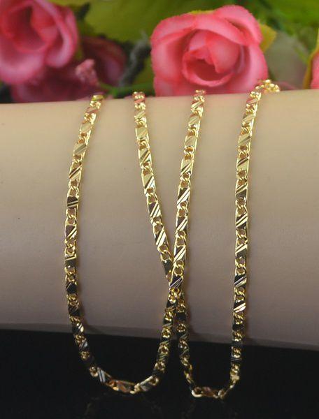 ·Exquisite 18K Genuine Gold Filled Golden Necklace 21inch XL26-1