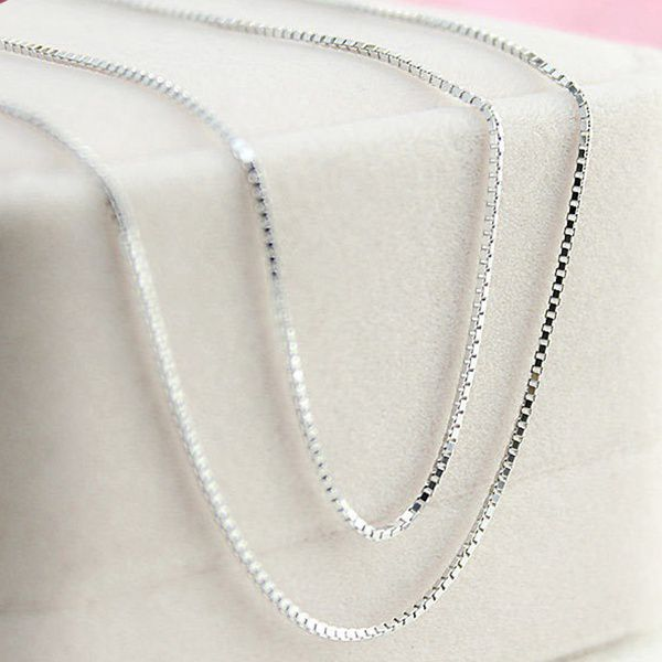 Fashion 16-30inches Fine 925 Sterling Silver Italy Necklace Box Chains With Lobster Clasps Link in Jewelry Bag