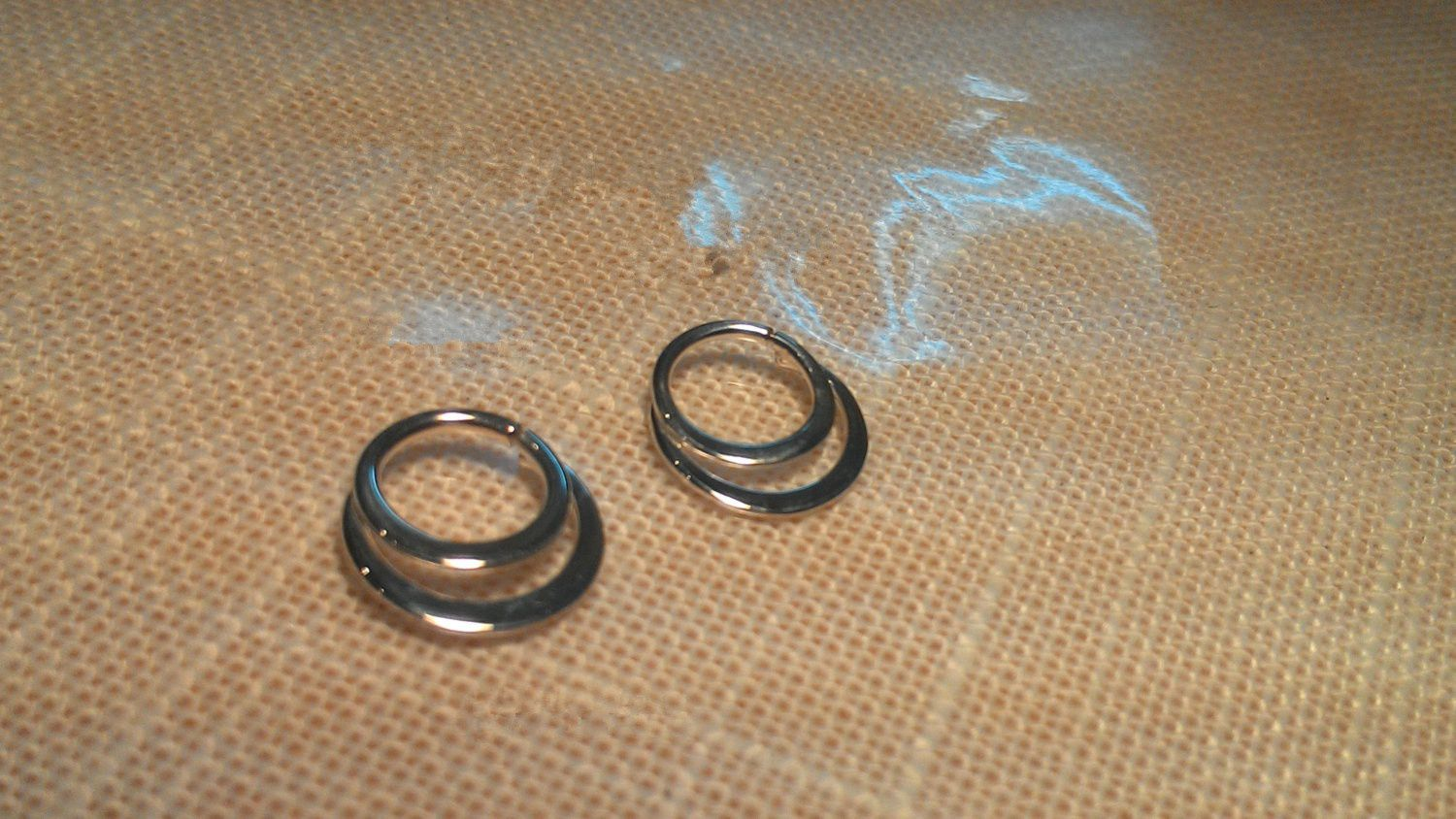 Gold Septum Ring Gold Nose Ring 22g 20g 18g 16g 14g Yellow Filled