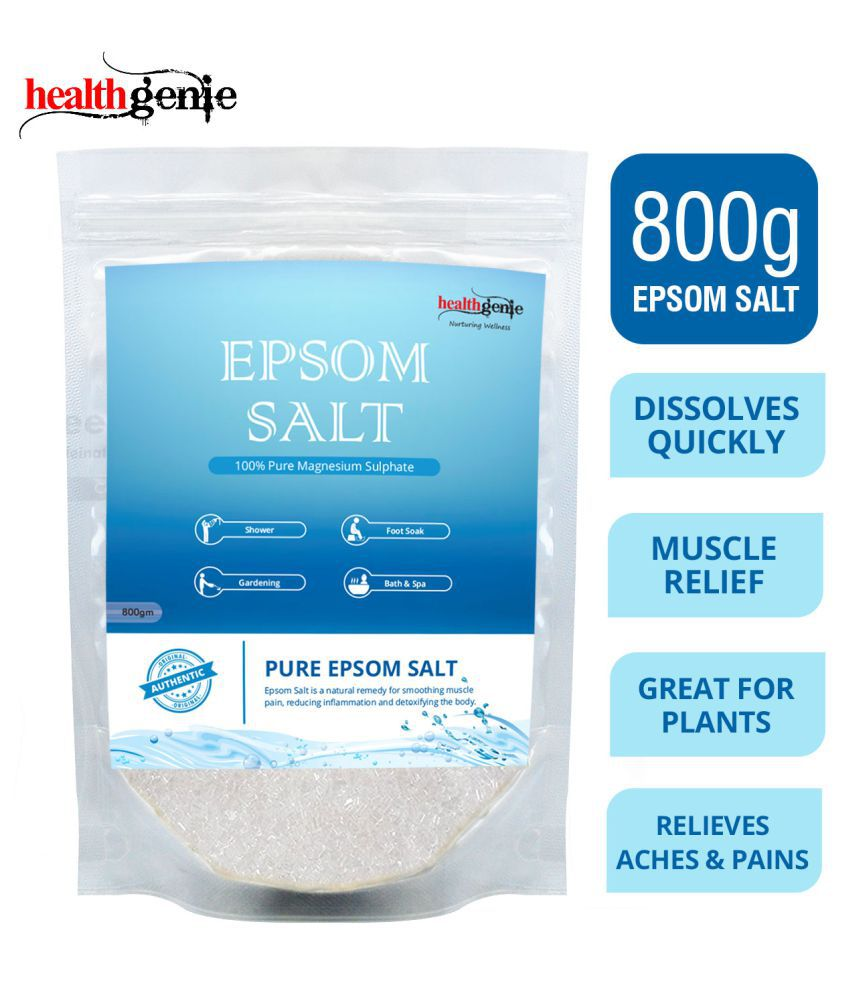 Healthgenie Epsom Salt Crystal For Relaxation 800 gm