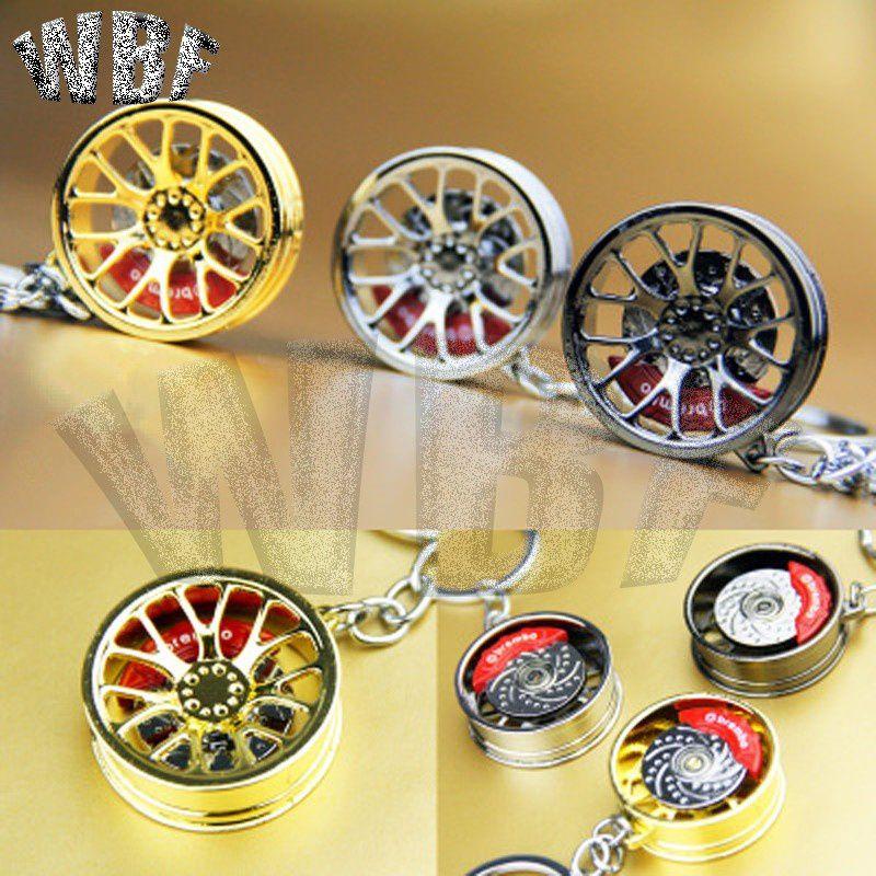 WBF Racing-high quality car key chain creative wheel hub chaveiro portachiavi wheel rim model keychain sleutelhanger car-styling