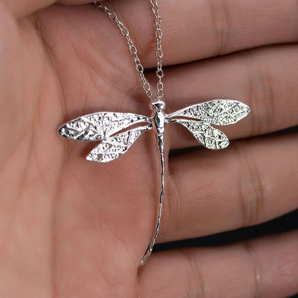 Fashion Charms 925 sterling silver CZ Dragonfly Women Necklace for Pendant Xmas Gift