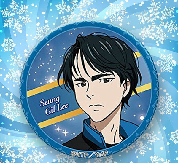 Fashion Japanese Anime Cartoon YURI!! on ICE Badge Brooch Chest Pin Gifts 58mm