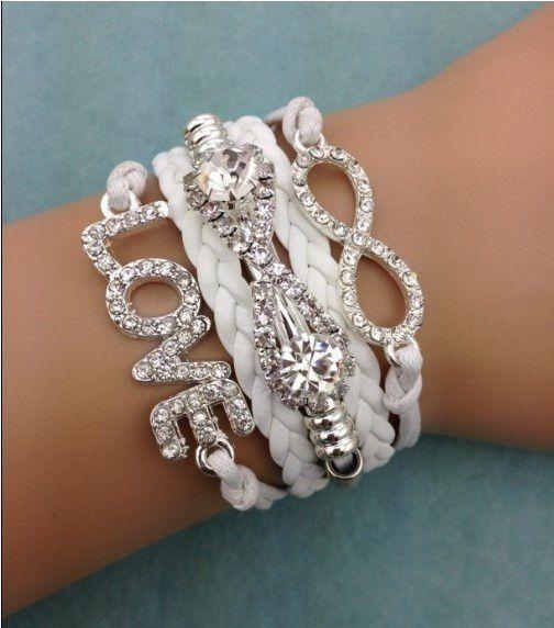 infinity bracelet, bracelet,love bracelet,leather bracelet,bracelet for chritsmas gift