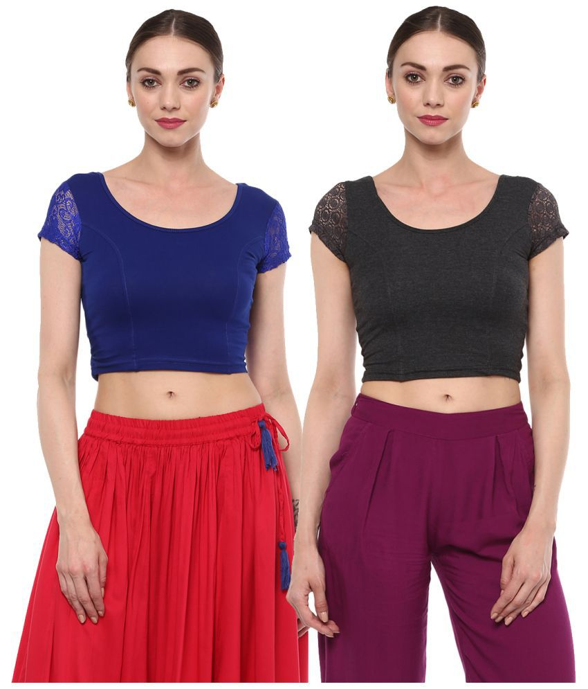 Salwar Studio Multicoloured Lycra Readymade without Pad Blouse