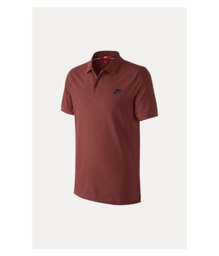 Nike Red Cotton Polo T-Shirt