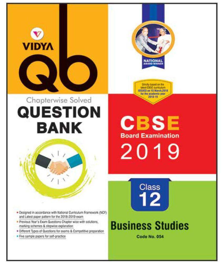 CBSE Question Bank Business Studies Class 12
