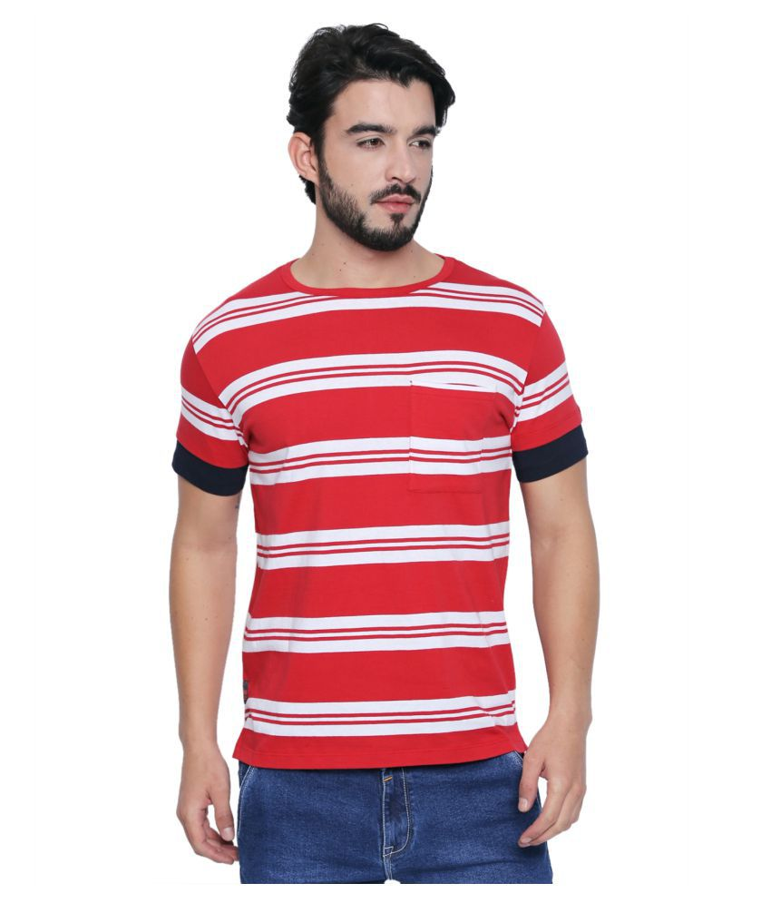 Cult Fiction Red Round T Shirt Pack of 1