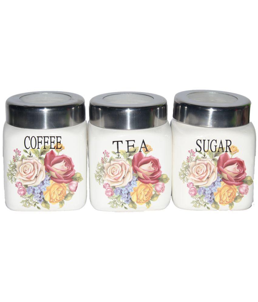 Jade S Coffee Tea Sugar Jars Set Of 3