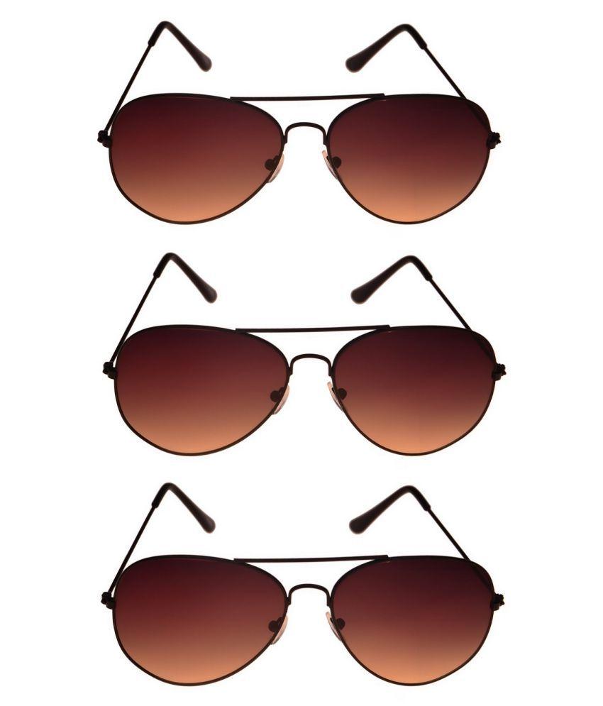 Tashan Maroon Pilot Sunglasses ( Pilot-15-15-15 )
