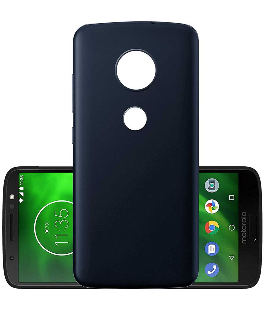 Motorola Moto G6 Plain Cases TBZ - Blue