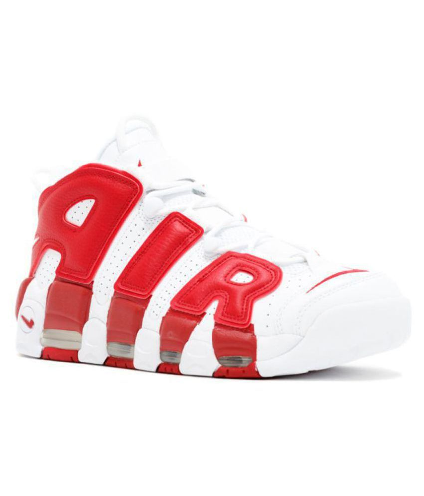 26c9320c2f12 Nike Air UpTempo 96 Red Basketball Shoes - Buy Nike Air UpTempo 96 Red  Basketball Shoes Online at Best Prices in India on Snapdeal