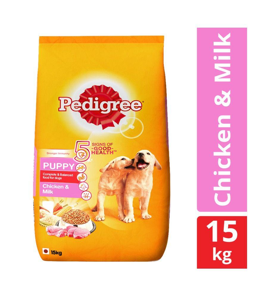 Pedigree Dry Dog Food, Chicken & Milk for Puppy, 15 kg