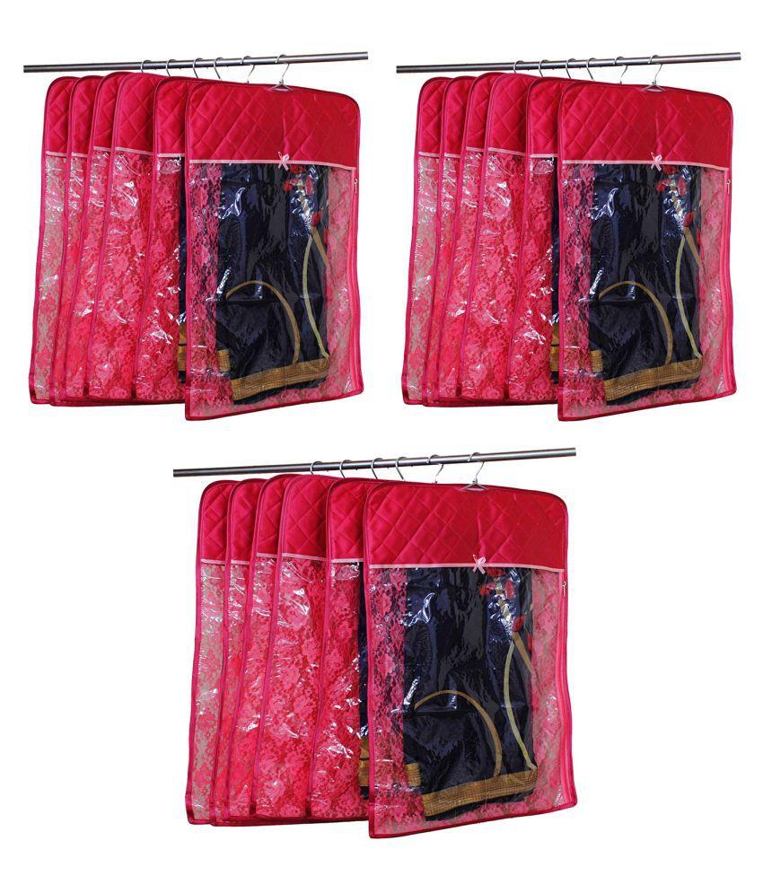 atorakushon Maroon Saree Covers - 15 Pcs