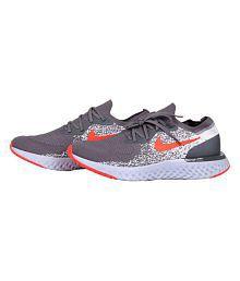 Nike EPIC REACT FLYKNIT Grey Running Shoes