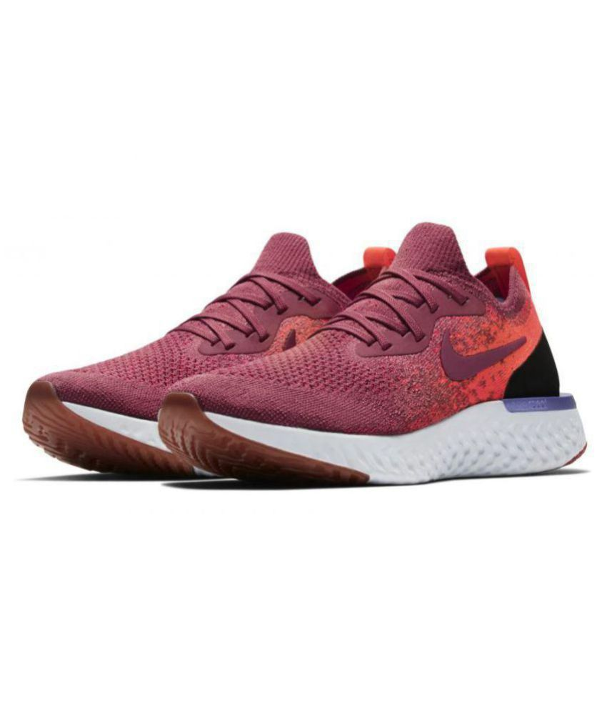 check out dabae de092 Nike EPIC REACT FLYKNIT Red Running Shoes - Buy Nike EPIC REACT FLYKNIT Red Running  Shoes Online at Best Prices in India on Snapdeal