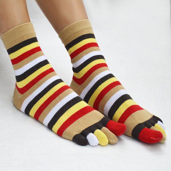 1a00ef5ef 1* Pairs Rainbow Colorful Socks Women'S Girl Color Stripes Five Finger Toe  Socks-GSM ...