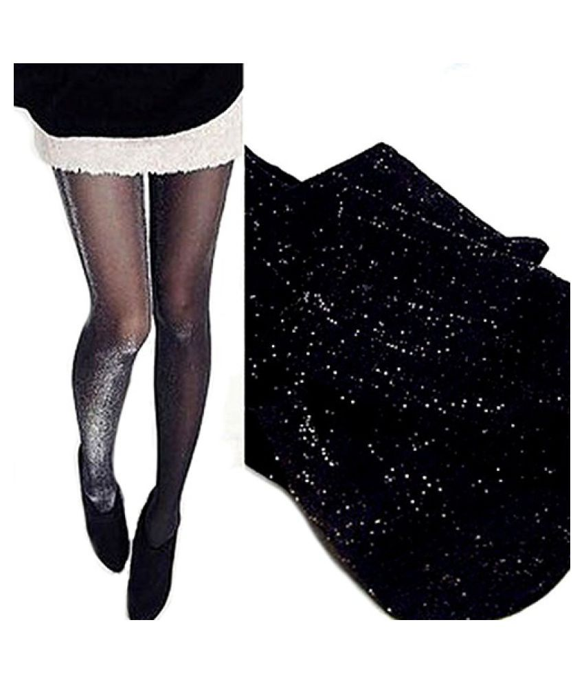 Shiny Pantyhose Glitter Stockings Womens Glossy Tights