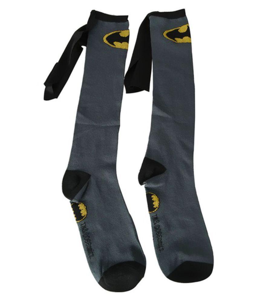 Uni Super Hero Superman Batman Knee High With Cape Soccer Cosplay Socks New